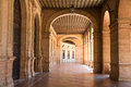 Arcade hall in historic building Royalty Free Stock Photo
