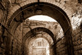 Arcade in Jerusalem Royalty Free Stock Photo