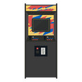 Arcade machine vector illustration. Geek gaming retro gadgets fr Royalty Free Stock Photo