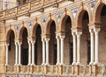 Arcade at Plaza de Espana, Seville, Spain Royalty Free Stock Photo
