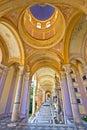 Arcades of mirogoj cemetary in zagreb vertical view capital croatia Stock Images