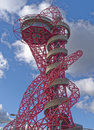 Arcelormittal orbit image taken of the the at the queen elizabeth olympic park in stratford london uk the structure measures Royalty Free Stock Photos
