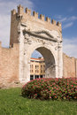 Arch of Augustus in Rimini Stock Image