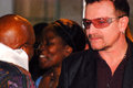 The arch bishop emeritus desmond tutu with bono at his official book launch st george s cathedral Royalty Free Stock Photo