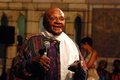 The arch bishop emeritus desmond tutu at his official book launch st george s cathedral Stock Images