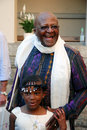 The arch bishop emeritus desmond tutu at his official book launch st george s cathedral Stock Image