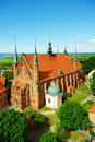 Arch cathedral basilica in frombork poland aerial view of the of the assumption of the blessed virgin mary and saint andrew the Royalty Free Stock Image