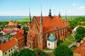 Arch cathedral basilica in frombork poland aerial view of the of the assumption of the blessed virgin mary and saint andrew the Royalty Free Stock Photography