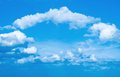 Arch of clouds in the form an Royalty Free Stock Photo