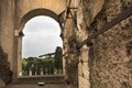 Arch of the Coliseum in Rome, Lazio, Italy. Royalty Free Stock Photo