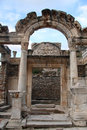 Arch and columns of ancient temple in ephesus turkey Royalty Free Stock Photo