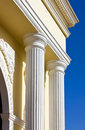 Arch columns under blue sky Stock Image