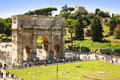 The arch of constantine arco di costantino is a triumphal arch in rome situated near colosseum Stock Images