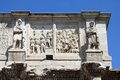 Arch of constantine italy rome famous triumphal on palatine hill Stock Photography