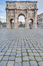 Arch of constantine in rome italy arco di costantino a triumphal located between the colosseum and the palatine hill Stock Photos