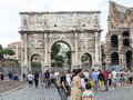 Arch of constantine rome near the colosseum in italy Royalty Free Stock Images