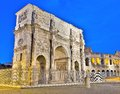 Arch of constantine rome the is a triumphal in situated between the colosseum and the palatine hill Stock Images