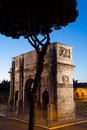 Arch of constantine view from the colosseum rome italy Stock Image