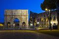 The arch of costantine rome italy colosseum and Stock Photography