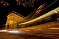 Arch de triumph paris france of at night Royalty Free Stock Photo