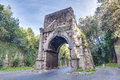 Arch of drusus in rome italy arco di druso an ancient close to the first mile the appian way and next to the porta san Royalty Free Stock Image