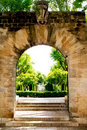 Arch entrance gardens Palma de Mallorca Royalty Free Stock Images