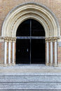 Arch entrance medieval with big and columns Royalty Free Stock Photo