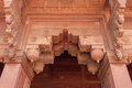 Arch entrance ornately decorated with carvings red fort agra india ornate carved stone decorates all details of the Royalty Free Stock Images
