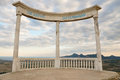 Arch highly in mountains Royalty Free Stock Photos
