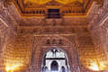 Arch mosaics ambassador room alcazar royal palace seville andalusia spain originally a moorish fort oldest still in Royalty Free Stock Image