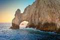 The arch natural rock formation called in cabo san lucas mexico Royalty Free Stock Photo