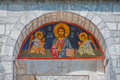 Arch with orthodox picture of Jesus, Montenegro Royalty Free Stock Image