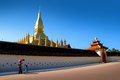Arch at Pha That Luang2 Royalty Free Stock Photo