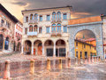 Arch of Piazza Marc Antonio Flaminio in Serravalle, Vittorio Veneto Royalty Free Stock Photo