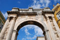Arch in Pula, Croatia. Stock Image