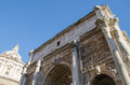 Arch of septimius severus beautiful the in the foro romano rome Stock Photography