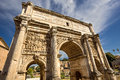 Arch of septimius severus rome italy Royalty Free Stock Images