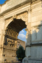 The arch of titus rome italy on via sacra Royalty Free Stock Images