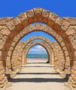 Arch to the sea ancient Royalty Free Stock Photos