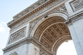 Arch of triumph detail in paris france Stock Images