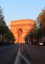 Arch of Triumph at Dusk Royalty Free Stock Photography