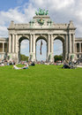 Arch of Triumph of the fiftieth, Brussels Stock Images
