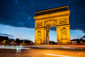 Arch of triumph, Paris Royalty Free Stock Photo