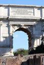 Arch of Triumph in Rome Stock Image