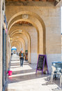 Arch walk way in Marseille, France Royalty Free Stock Photo