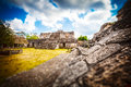 Archaeological area of ek balam yucatan mexico mayan ruins Royalty Free Stock Photography