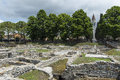 Archaeological excavations in aquileia view of the the city of friuli italy Stock Photography