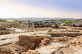 Archaeological excavations national park zippori galilee israel and ruins of the ancient roman and talmudic era city of is located Stock Photos