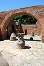 Archaeological excavations - Roman ruins Stock Photos