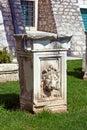 Archaeological remnant of an old roman ruin in sibenik croatia Stock Photo